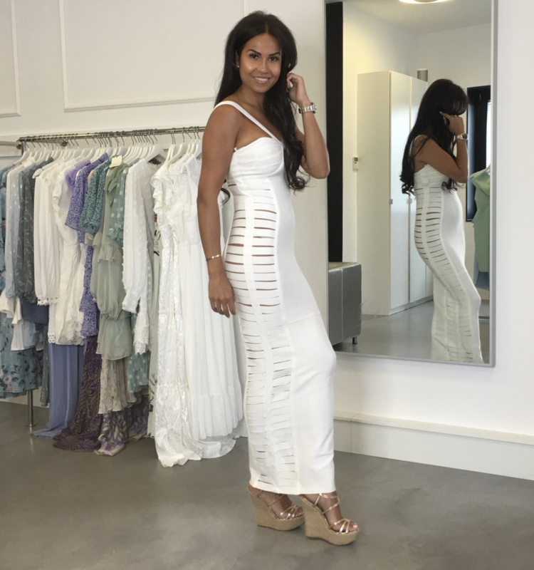 CAGE WHITE MAXI DRESS By Yessey