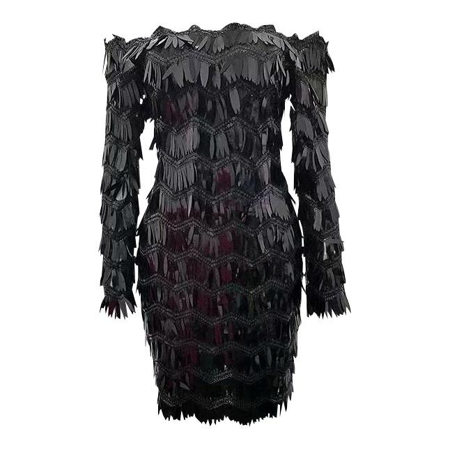 LEAF BLACK DRESS By Yessey