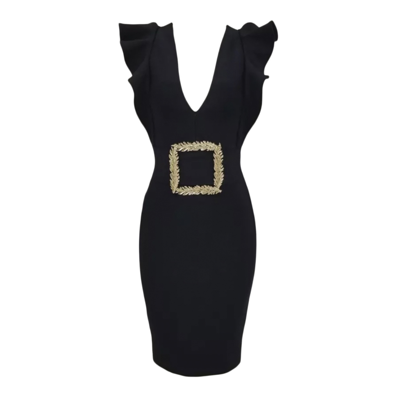 SABLE BLACK  DRESS By Yessey