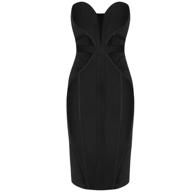 MERA BLACK BANDAGE DRESS By Yessey