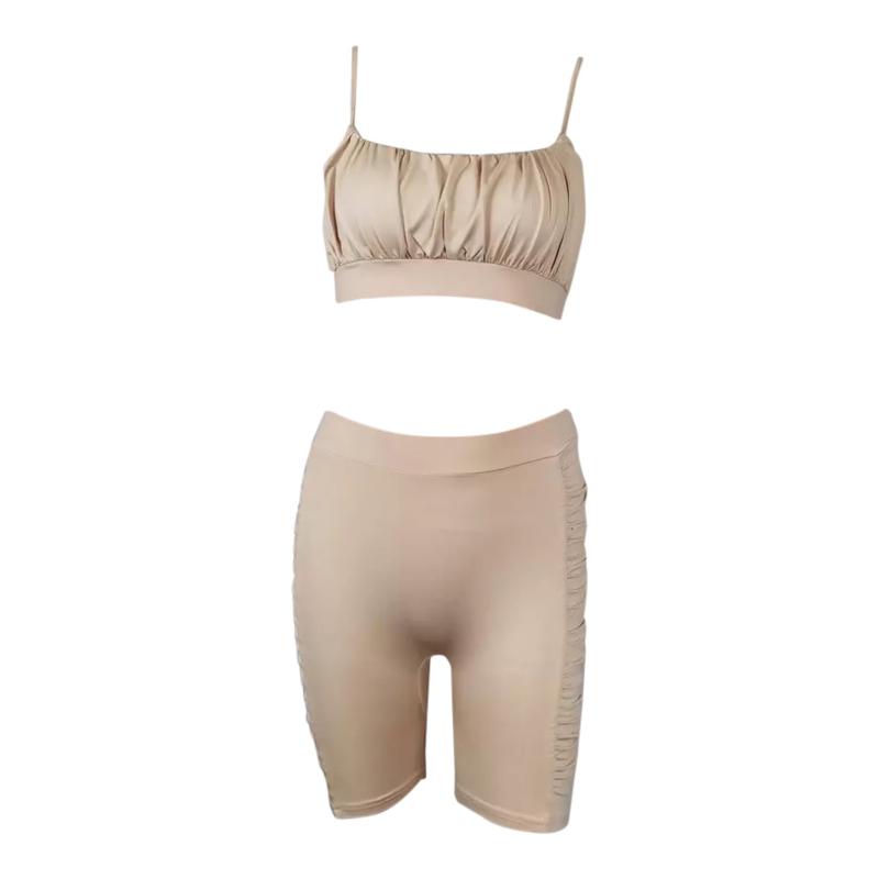 SHINY NUDE COMFY SET  By Yessey