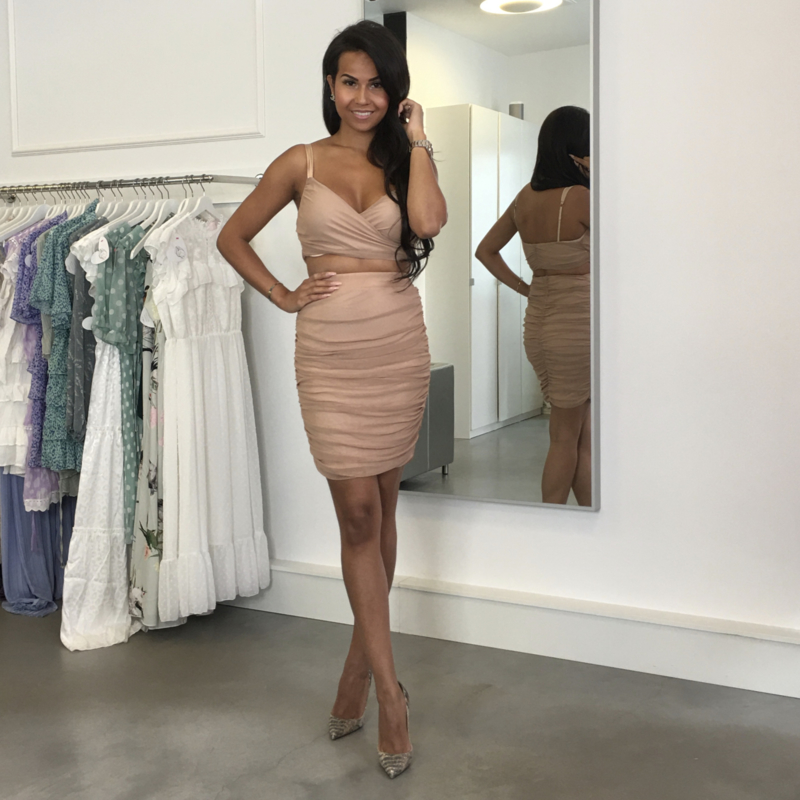 TAUPE RUCHED SET By Yessey