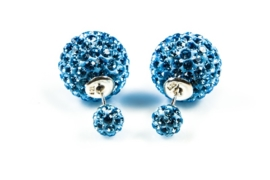 Karma Double Dots  Light Blue Crystal