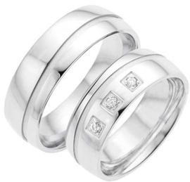 Zilveren relatieringen Alliance 6W.256