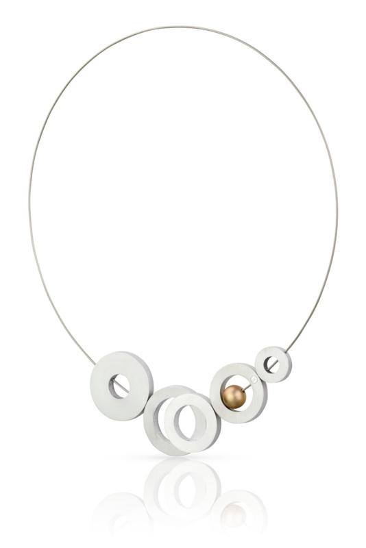 Clic aluminium collier C140 gold