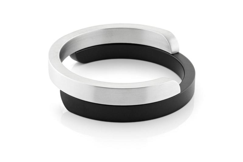 Clic aluminium armband A2Z mat
