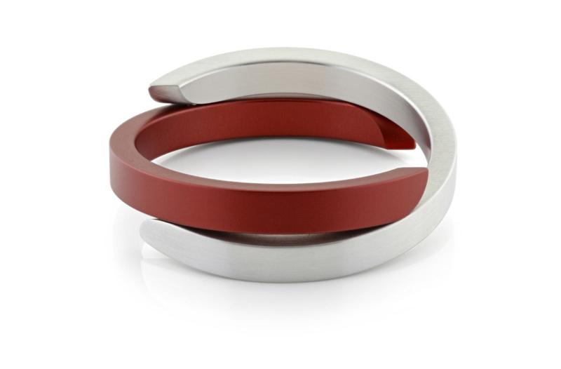 Clic aluminium armband A1R mat