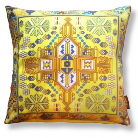 Sofa pillow Yellow velvet cushion cover COLESEED