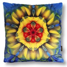 Cushion cover velvet SCARLET MACAW