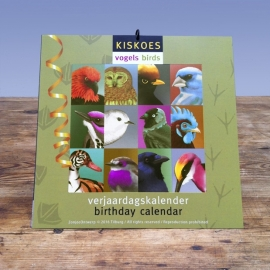 KISKOES Birthday calendar Birds