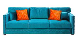 Orange velvet cushion cover BREAKING DAWN