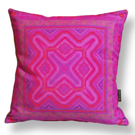Sofa pillow Pink velvet cushion cover FUCHSIA