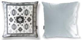 Sofa pillow Black-grey-white velvet cushion cover SNOW LEOPARD