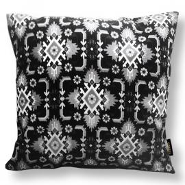 Sofa pillow Black-grey-white velvet cushion cover SACRED IBIS