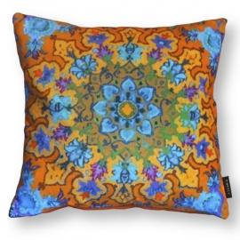 Sofa pillow Orange velvet cushion cover MARIGOLD