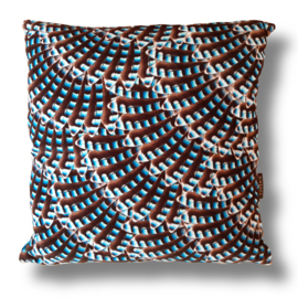 Sofa pillow Blue velvet cushion cover JAY 2