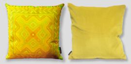 Sofa pillow Yellow velvet cushion cover DAFFODIL