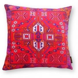 Sofa pillow Red velvet cushion cover CARDINAL