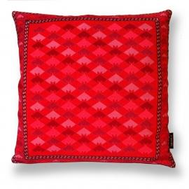Sofa pillow Red velvet cushion cover RED MOON