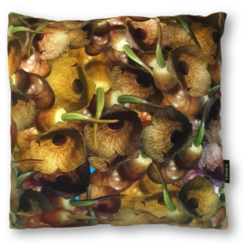 Sofa pillow Brown velvet cushion cover SAXOPHONE PLANT