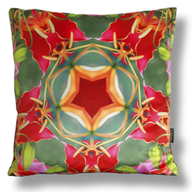 Cushion cover velvet  FLAME LILY