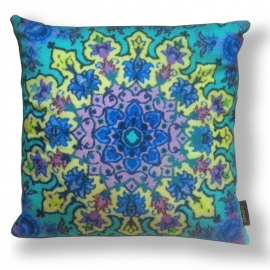 Sofa pillow Turquoise velvet cushion cover SEA CORAL