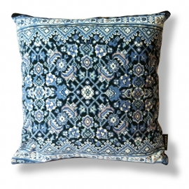 Sofa pillow Blue velvet cushion BLUE AGATE