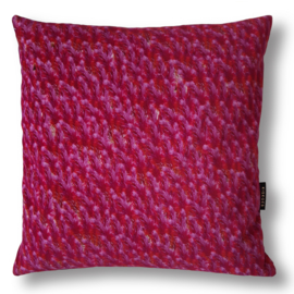 Sofa pillow Purple velvet cushion cover PLUMED COCK'S COMB