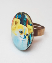 Cabochon ring BLONDIE