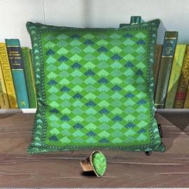 Groen fluwelen kussenhoes JADE