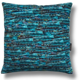 Sofa pillow Turquoise velvet cushion cover EMPEROR DRAGONFLY