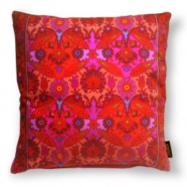 Sofa pillow Red velvet cushion cover CRIMSON