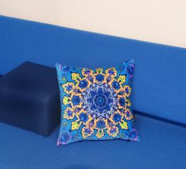 Sofa pillow Blue velvet cushion cover INDIGO
