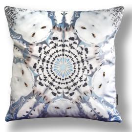 Cushion cover velvet SNOWY OWL