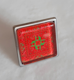 Cabochon ring AFTERGLOW red