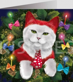 - Cat cards Christmas