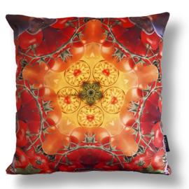 Cushion cover velvet TOMATO