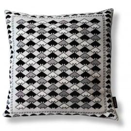 Sierkussen Zwart-grijs-wit fluwelen kussenhoes SNEEUWUIL