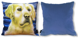 Dog throw pillow GOLDILOCKS velvet pillow case