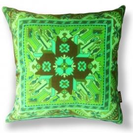 Cuscino Verde in velluto fodera per cuscino PRIMAVERA 1+2
