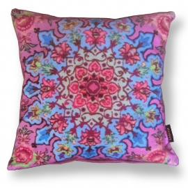 Sofa pillow Pink velvet cushion cover CUPCAKE