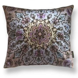 Sofa pillow Taupe velvet cushion WINTER GARDEN