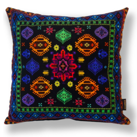 Sofa pillow Spectrum-black velvet cover KALEIDOSCOPE