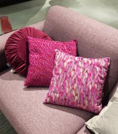 Cojín sofá Violeta funda cojín terciopelo PLANTA DE TERCIOPELO