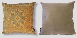 Sofa pillow Yellow velvet cushion cover OCHRE