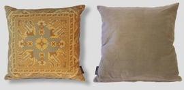 Cojín sofá Amarillo funda cojín terciopelo OCRE
