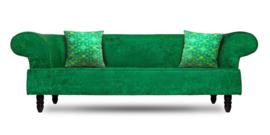 Groen fluwelen kussenhoes GRAS