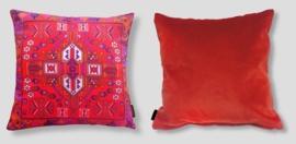 Cojín sofá Rojo funda cojín terciopelo CARDENAL