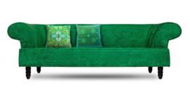 Grønn fløyel putetrekk SMARAGD