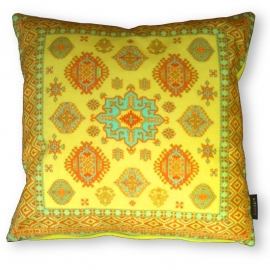 Sofa pillow Yellow velvet cushion cover SWEET CORN